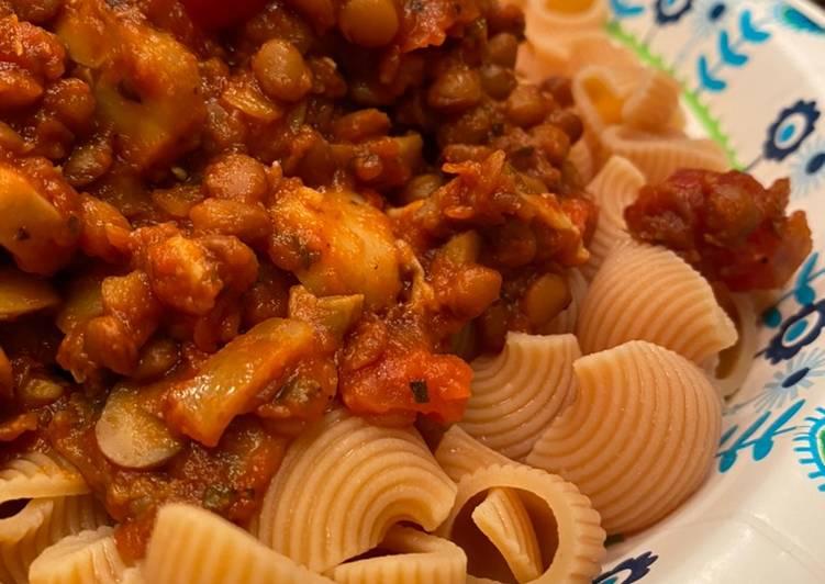 Lentil Pasta Dish