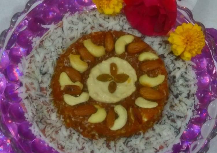 Carrot cake with rabri
