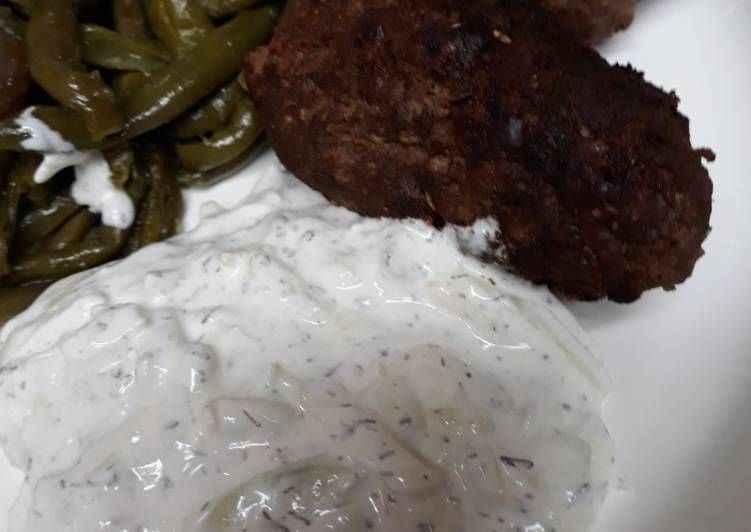Ground Beef Croquettes with White Sauce