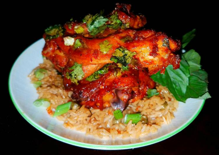 Mike's Glazed Asian Chicken Over Rice