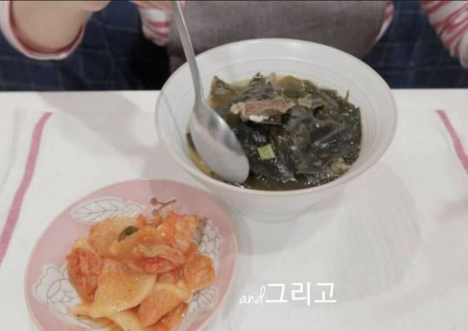 【Chef Baek Jong Wong Recipe】Korean Beef Seaweed Soup