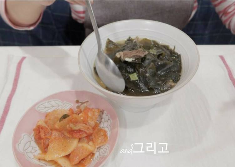 【Chef Baek Jong Wong Recipe】Korean Beef Seaweed Soup