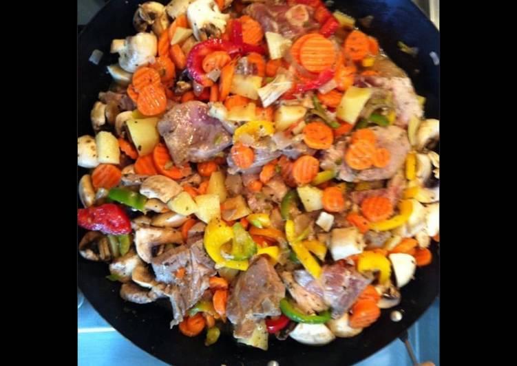 Sauté d agneau aux petits légumes