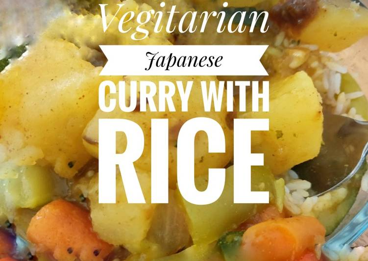 Vegitarian Japanese Curry Bowl with Rice 🍛