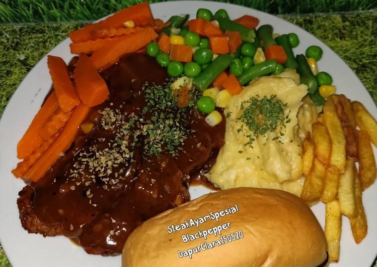 29. Steak Ayam Blackpepper