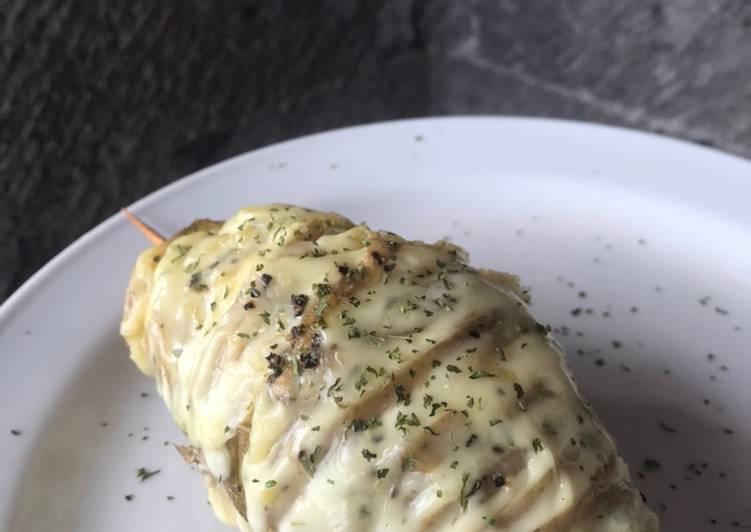 Cheesy Loaded Hasselback Potato