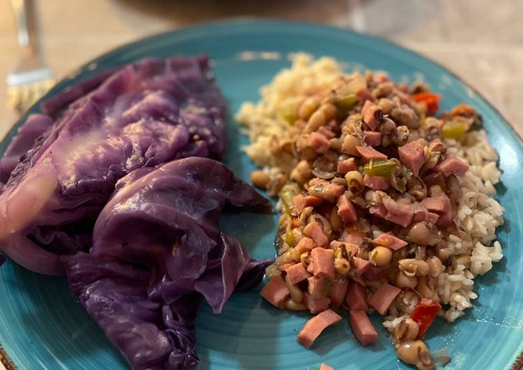 Black Eyed Peas with Cabbage