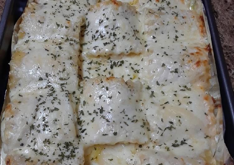 Creamy Shrimp White Lasagna Roll Ups
