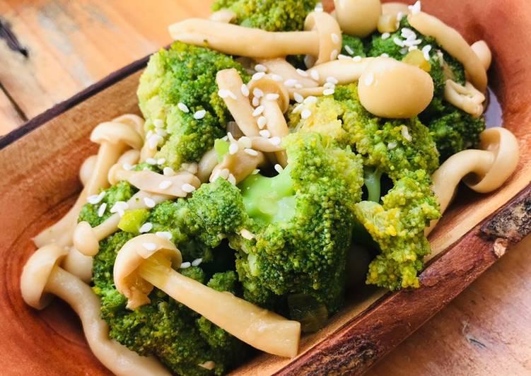 Brokoli shimeji saos tiram