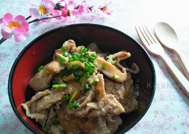 Pork and Shiitake Rice Bowl