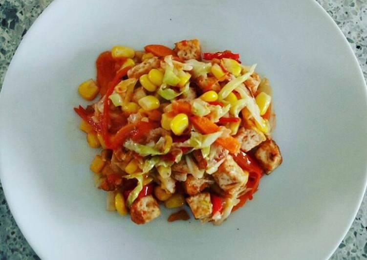 Tofu and Veggies Stir Fry