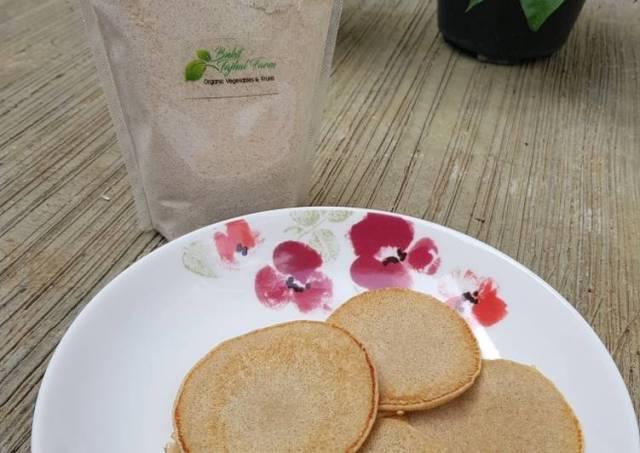 Pancake Gandum (pakai susu oat)