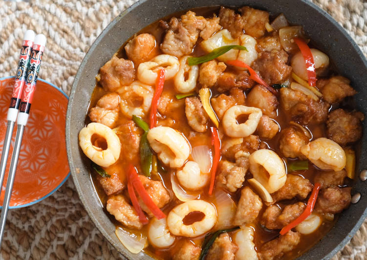 Sweet and Sour Lychee Chicken