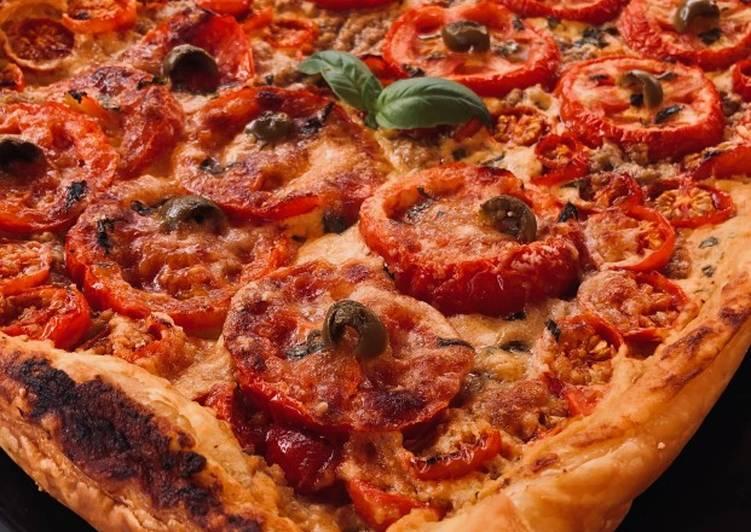 Tarte estivale thon et tomates