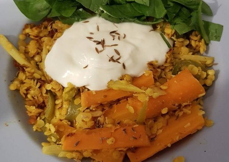 Lentil & whey curry (Perfect Cooker recipe)
