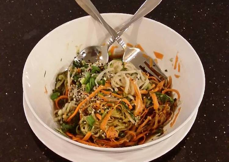 "Asian Vegetable ""Noodle"" Salad"