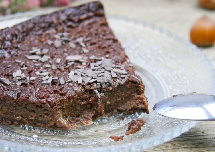Gâteau chocolat/noisette à la courgette
