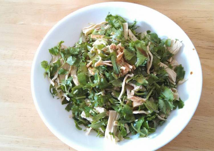 Cilantro shredded tofu salad 香菜干丝#凉菜##vegan#
