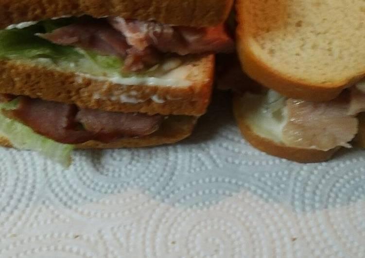 Leftover Ham Sandwich