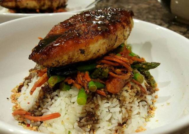 Balsamic Chicken on Rice