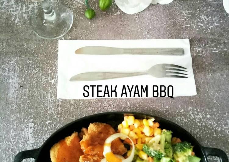 Steak ayam praktis bumbu BBQ
