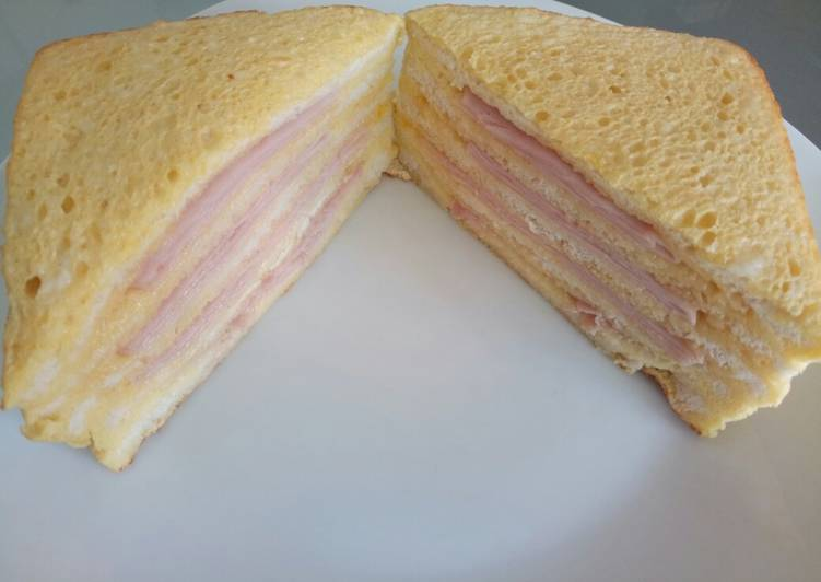 Fluffy's ham egg and cheese baked big sandwich