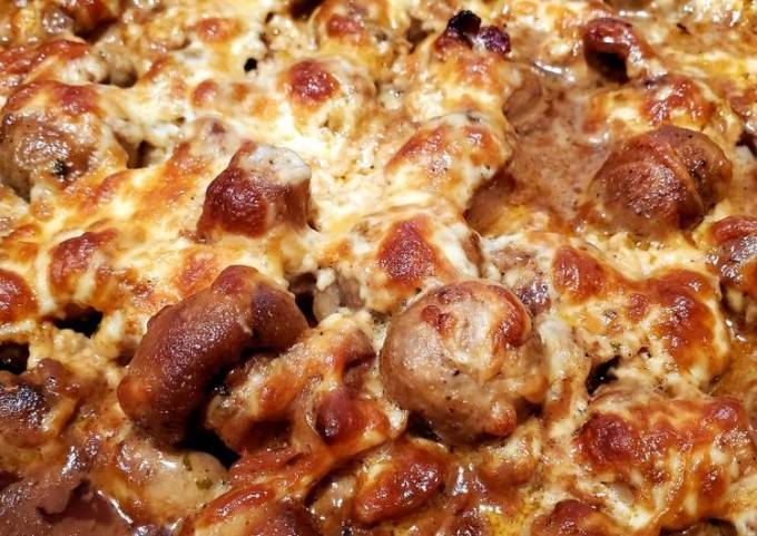 Cheese and Garlic Mushrooms with Bacon
