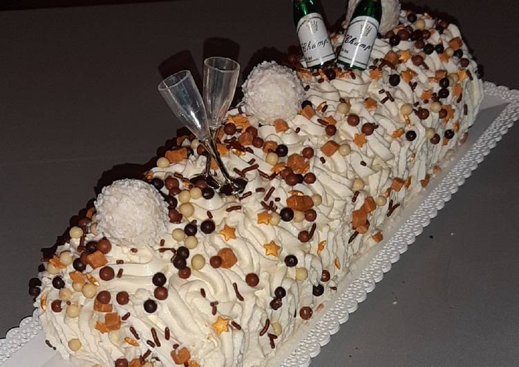 Bûche gourmande marscarpone cream