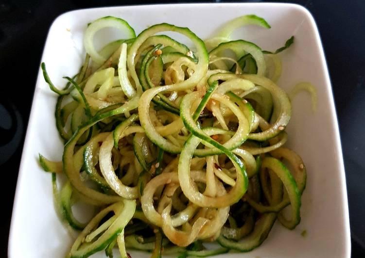 Asian Spicy Cucumber Sesame Salad