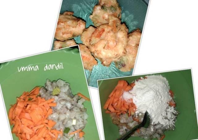 Bakwan wortel udang