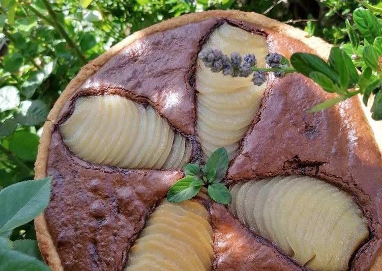 Tarte chocolat et poire