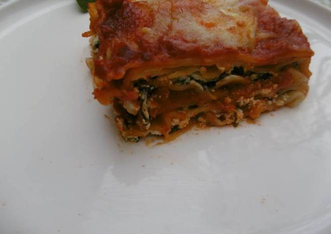 Simple Oven Baked Spinach Lasagna