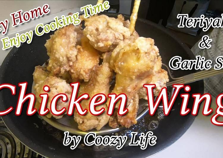 Japanese Chicken Wing Dish / Easy Teriyaki & Garlic Salt