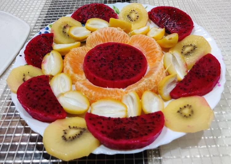 Fruit Salad with Drizzled Dressing