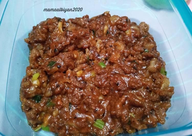 301. Daging Tumis (untuk isian Pao/bapao dan Roti)