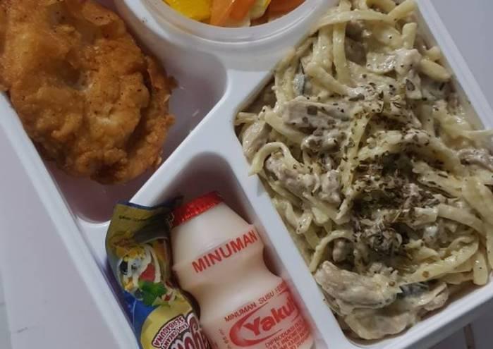 Resep Bekal Suami Fettucini With Mushroom Sauce