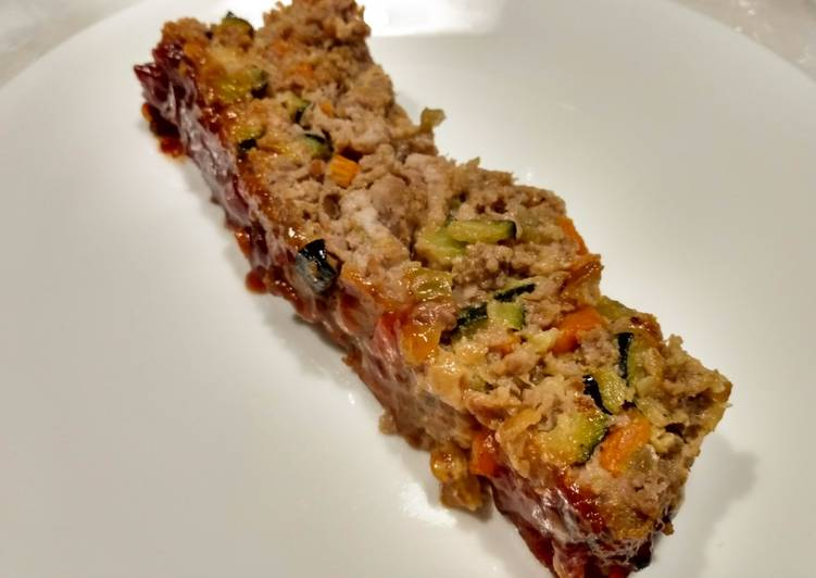 Meatloaf with veg and tangy glaze