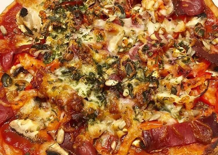 Pizza-Wrap au Jambon cru