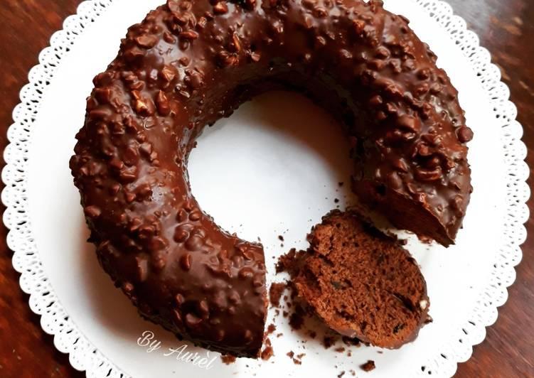 ☆Gâteau Chocolat à la Fleur de Sel de Guérande et Glaçage Rocher☆