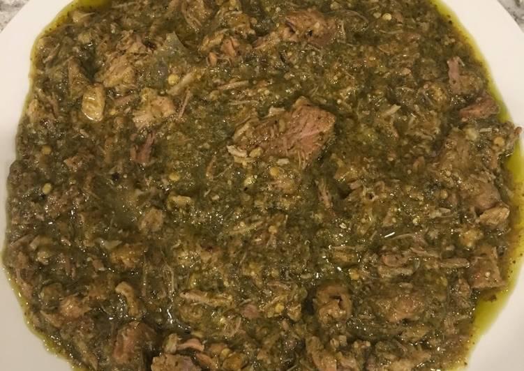 Lomo de puerco con salsa verde