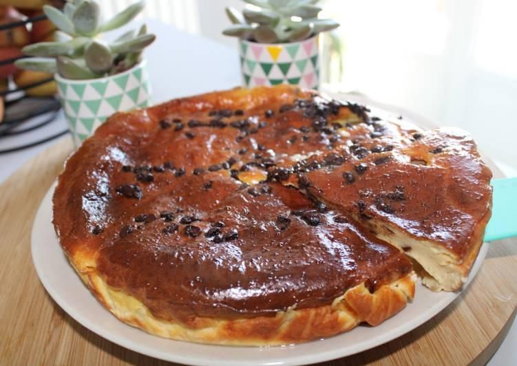 Clafoutis léger aux poires et chocolat