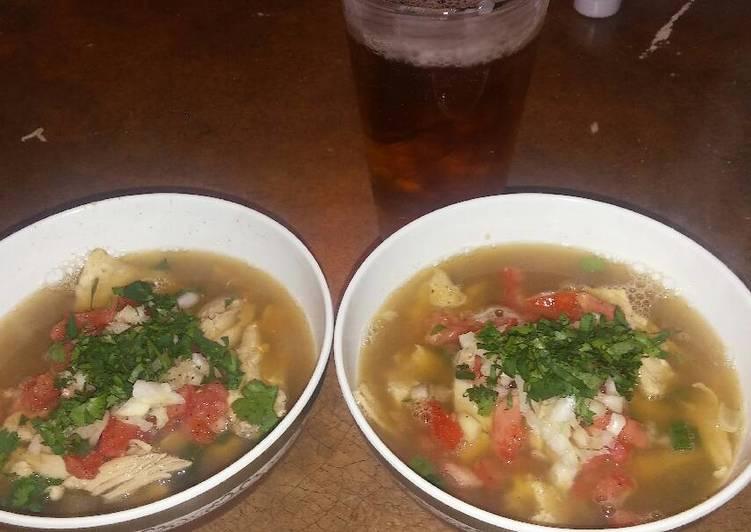 Super Simple Chicken Tortilla Soup