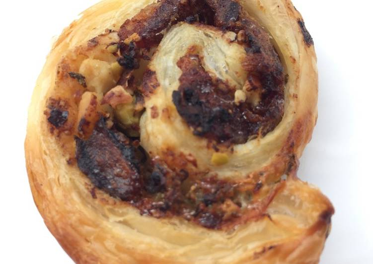 Medjool Dates With Blue Cheese Roll Puff Pastry Pinwheel