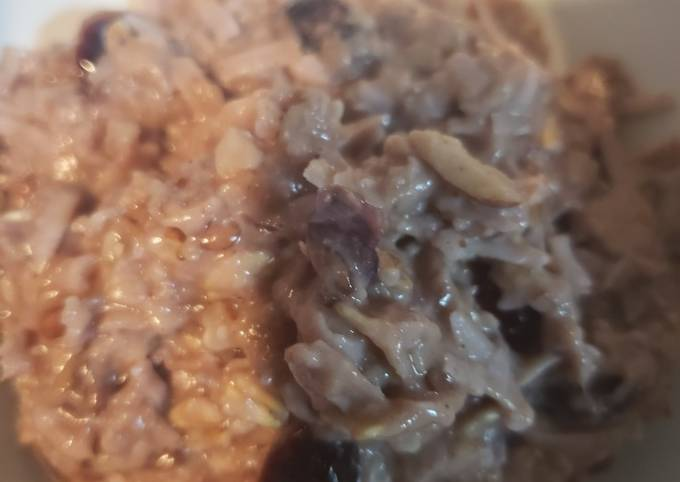 Multi fruit and nut oatmeal
