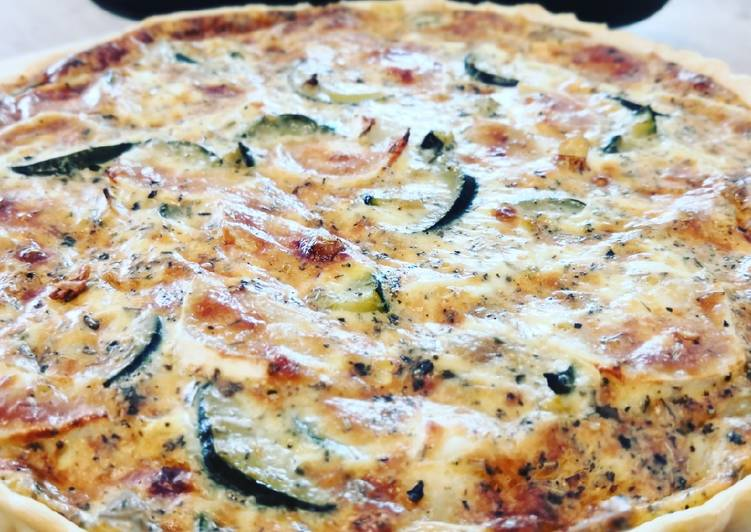 Quiche courgette chèvre
