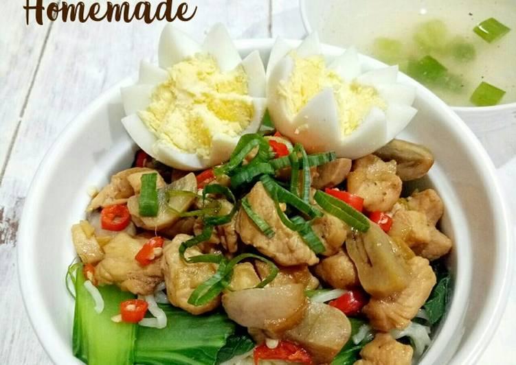 Mie Ayam Jamur Homemade