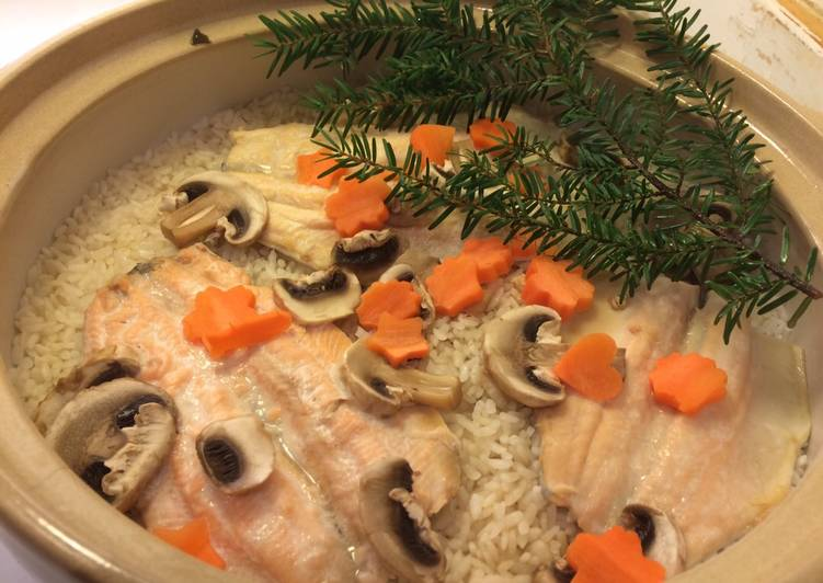 Cooked Rice Flavoured with Rainbow Trout by Coozy Life