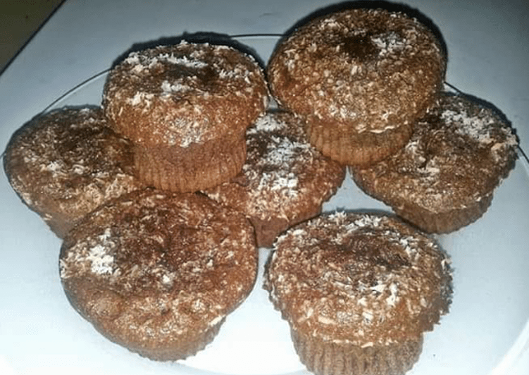 Muffins chocolat/coco coeur coulant chocolat