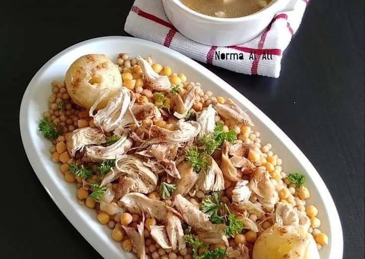 Chicken_Moghrabiyeh  #Lebanese_Couscous