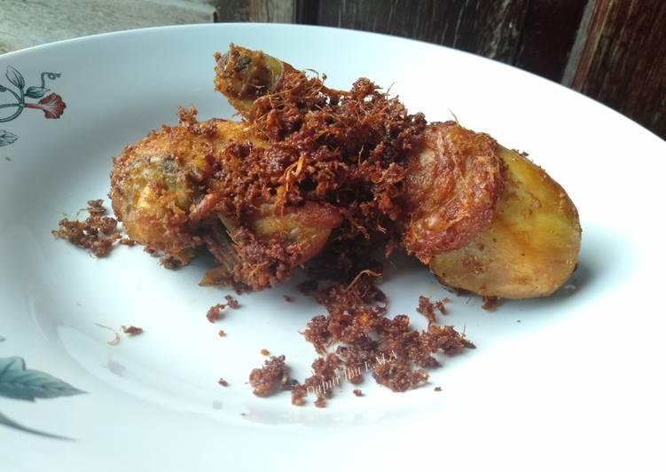 Ayam Goreng Lengkuas (ayam ungkep)